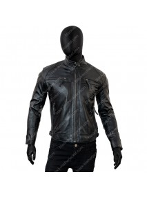 Classic Mens Café Racer Vintage Leather Jacket
