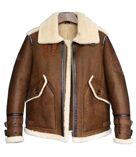 Mens Dark Brown Shearling Jacket