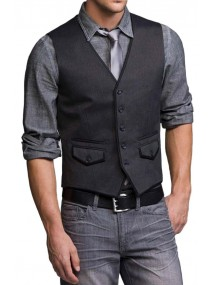 Men's New Style Party Wear Grey Vest