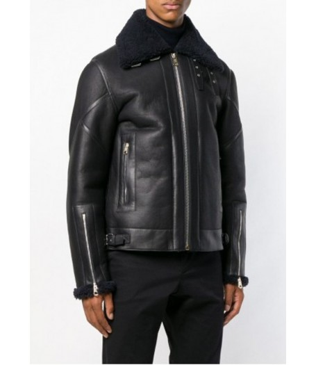 Johnson Mens Black Shearling Jacket