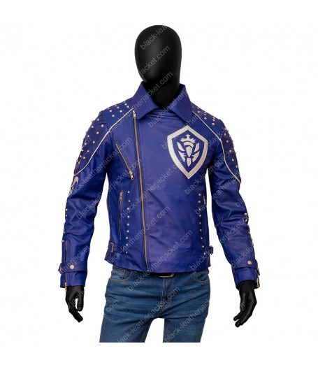 Descendants 2 King Ben Studded Leather Jacket