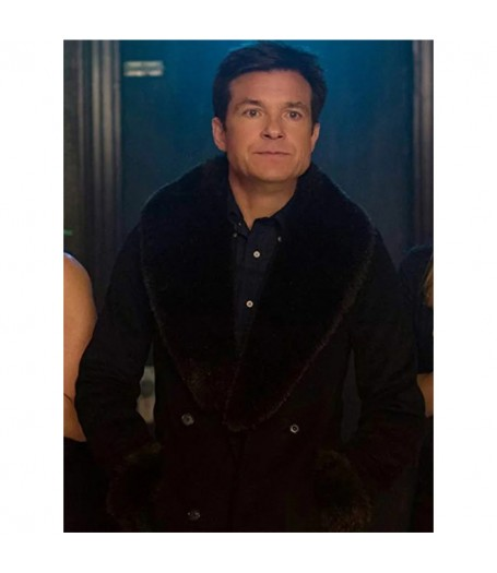 Jason Bateman Office Christmas Party Shearling Coat