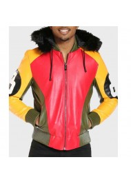 Men's 8 Ball Light Fur Hood Jacket