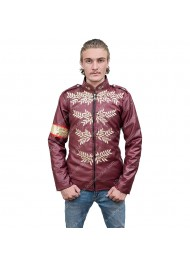 Michael Jackson Maroon Military Jacket