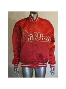 Phillies Satin Bomber Jacket