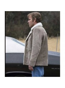 Roland West True Detective Shearling Jacket