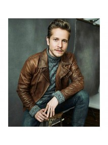 The Resident Matt Czuchry Brown Leather Jacket