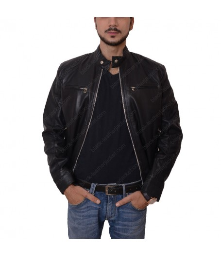 Mens Slimfit Black Casual Jacket