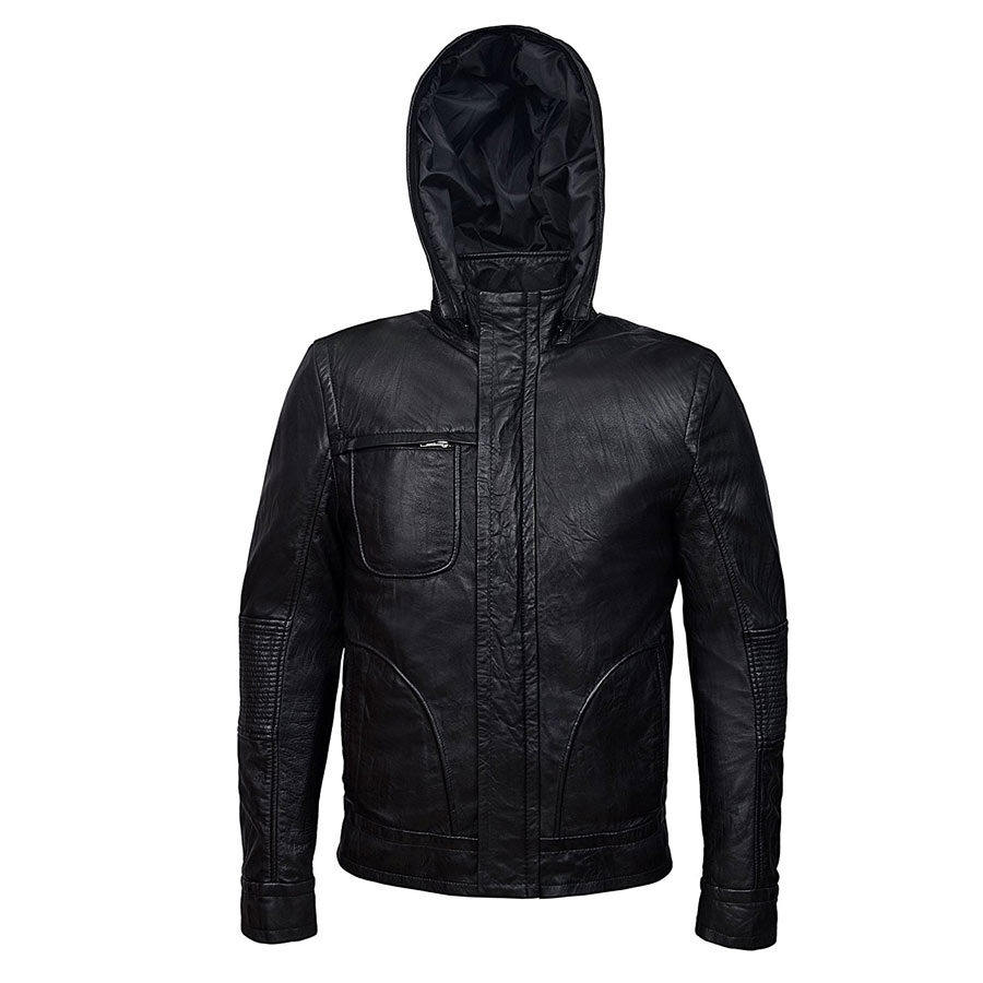 Ghost Protocol Mission Impossible Black Men/'s Hooded Movie Real Leather Jacket