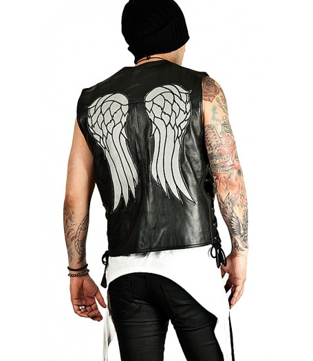 Angel The Walking Dead Daryl Dixon Wings Leather Vest