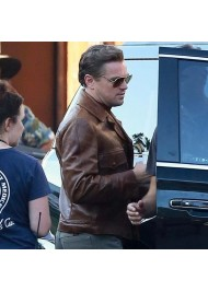 Leonardo DiCaprio Brown Leather Jacket