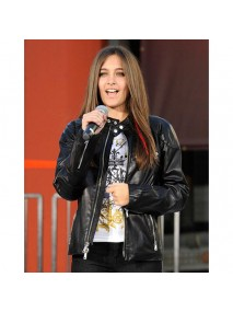 Paris Jackson Black Leather Jacket