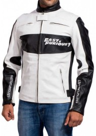 Fast and Furious 7 Dominic Toretto Racer Leather Jacket