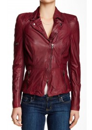 Rosie Huntington‑Whiteley Red Leather Jacket