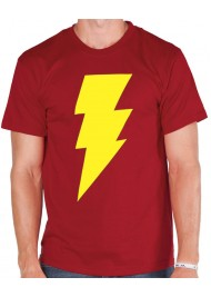 Shazam Yellow Logo Red T-Shirt
