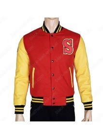 Superman Smallville Tom Welling Crows Letterman Jacket