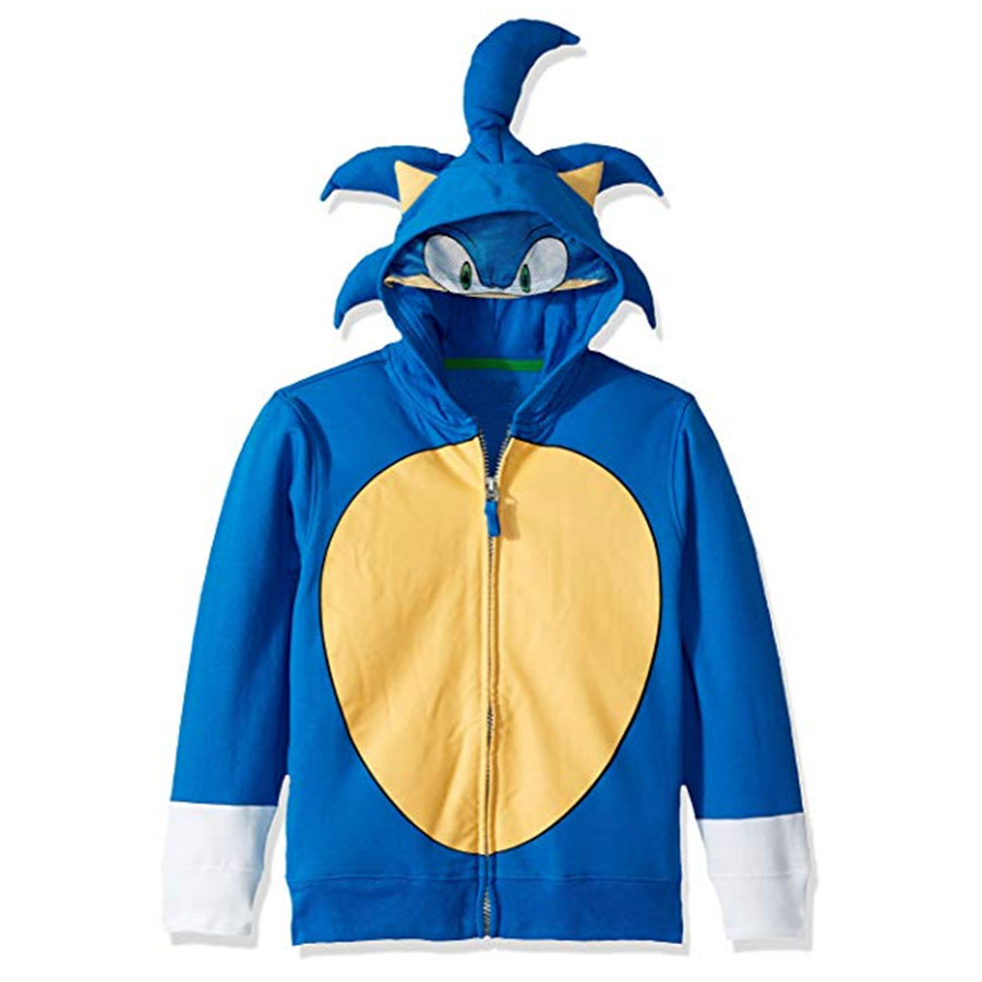 Sonic The Hedgehog Blue Costume Hoodie Free Shipping