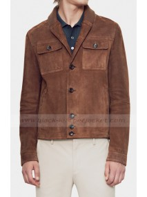 Aaron Taylor Johnson Suede Leather Jacket