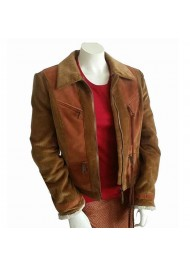 Superman and Lois Lana Lang Cushing Suede Jacket