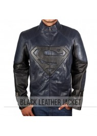 Smallville Superman Black and Blue Leather Jacket