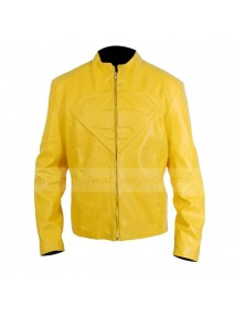 Superman Smallville Yellow Leather Jacket