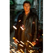 Taken 2 Bryan Mills Liam Neeson Leather Jacket Coat
