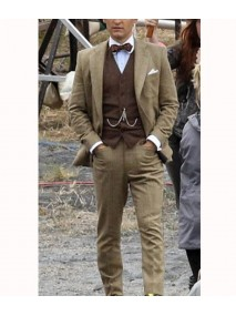 The Great Gatsby Tobey Maguire Brown Suit