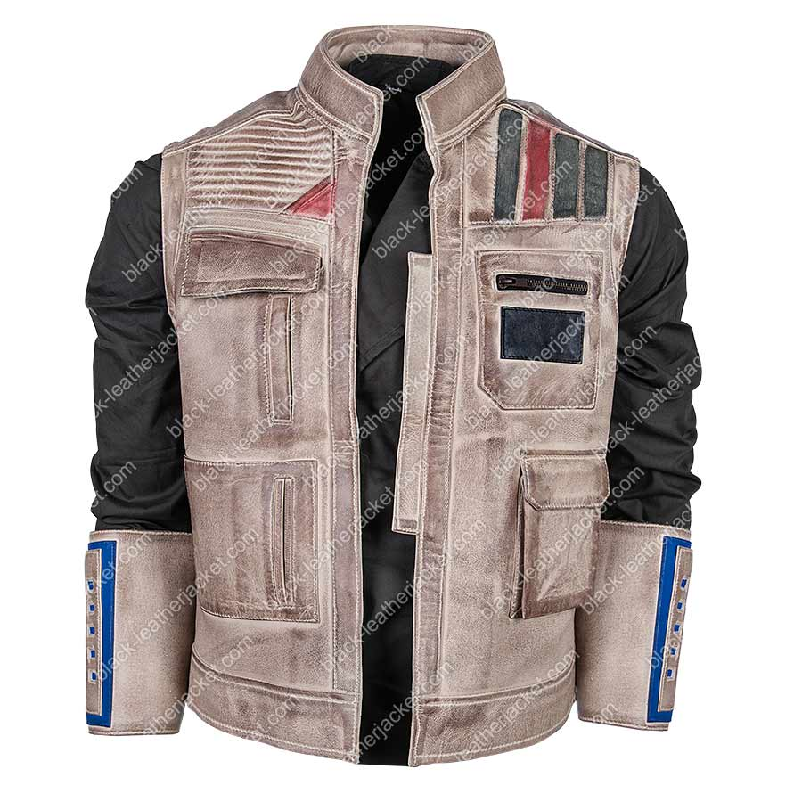 Finn Star Wars Rise Of The Skywalker Leather Vest Free Shipping