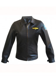 Top Gun Pilot Charlie Leather Jacket