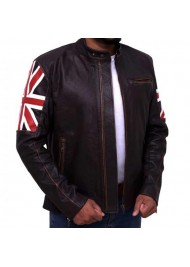UK Flag Café Racer Jacket
