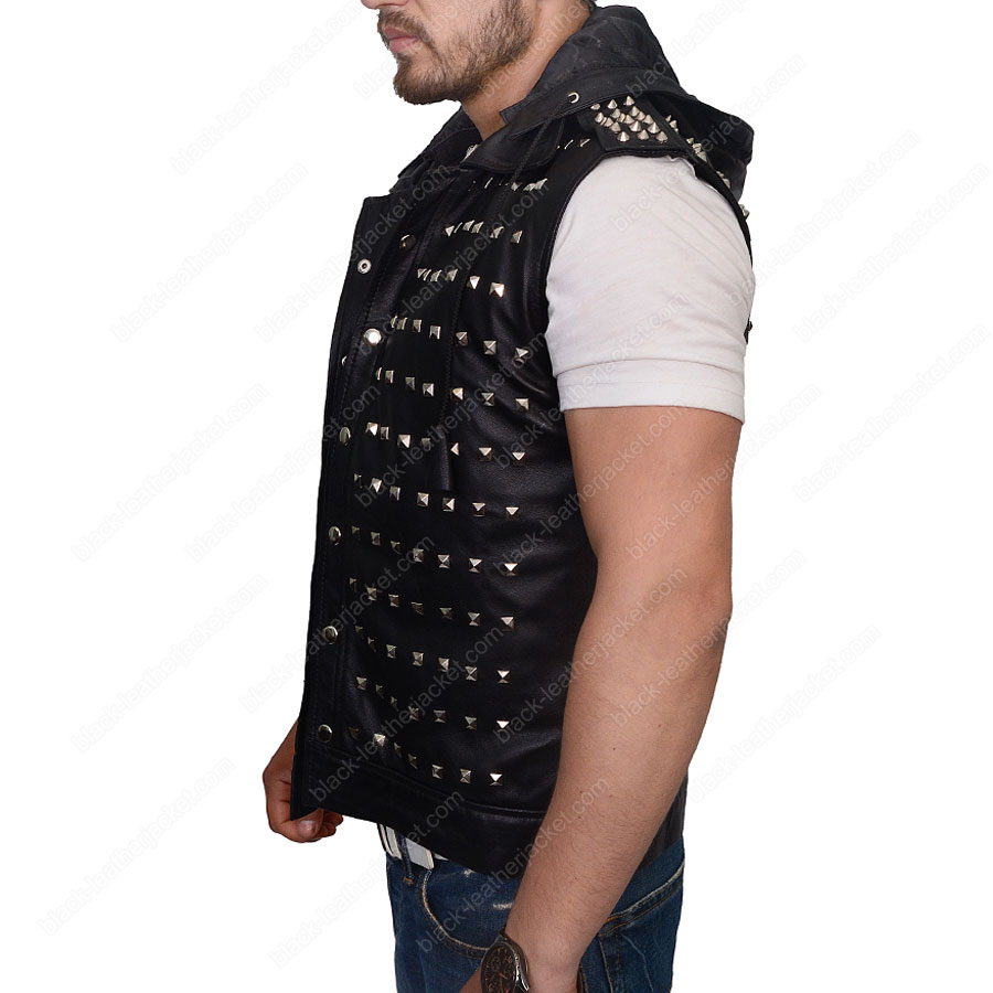Leather jacket for dogs - Watch Dogs 2 Wrench Leather Jacket