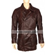Will Smith I Robot Del Spooner Distressed Leather Jacket