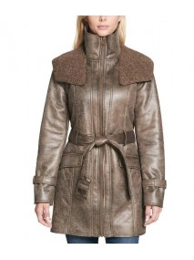 Duster Shearling Trench Coat