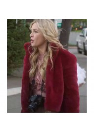 A Very Charming Christmas Town Aubrey Lang Fur Jacket