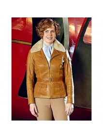 Amy Adams Aviator Leather Jacket