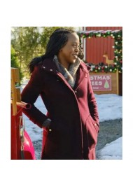 Christmas In Evergreen Bells are Ringing Hannah Turner Maroon Coat