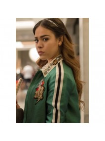 Elite Season 2 Danna Paola Green Varsity Jacket