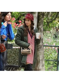 Emily in Paris Lily Collins Green Jacket With Hood