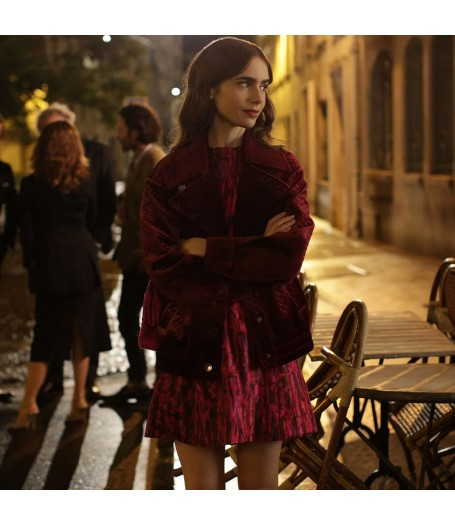Emily In Paris Lily Collins Velvet Jacket