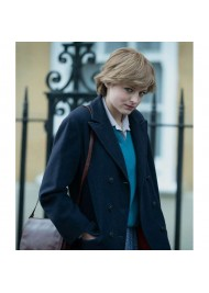 Emma Corrin The Crown Lady Diana Spencer Coat