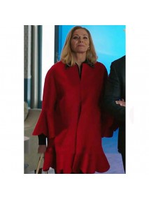 Filthy Rich Kim Cattrall Red Coat