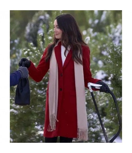 Mallory Jansen On The 12th Date of Christmas Coat