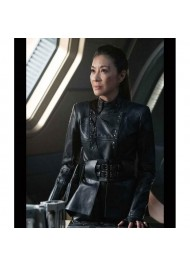 Star Trek Discovery S03 Michelle Yeoh Leather Jacket