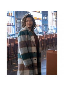 The Equalizer 2021 Queen Latifah Checked Coat