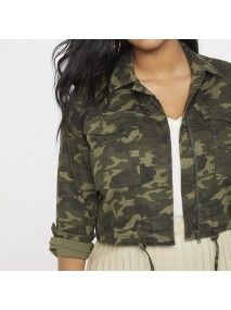 Womens Camouflage Cropped Jacket