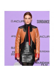 Zola 2021 Riley Keough Leather Jacket