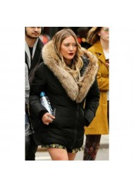 Younger Hilary Duff Fur Jacket