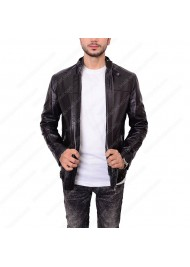 Slim Fit Style Zayn Malik Black Leather Jacket